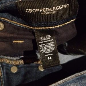 Express Jeans - Express High Rise Cropped Legging Jean Sz 14